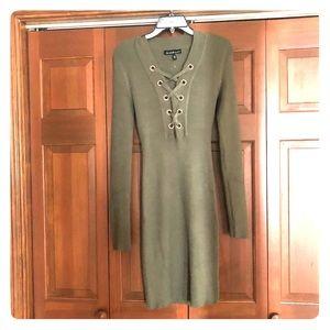 New! Derek Heart Olive Sweater Dress